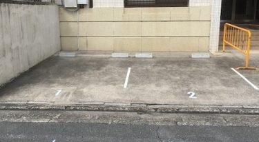 DIY 駐車場、駐輪場の ラインと番号の設置